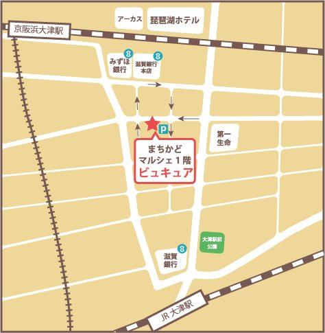 滋賀県大津市ネイルサロンビュキュアMAP
