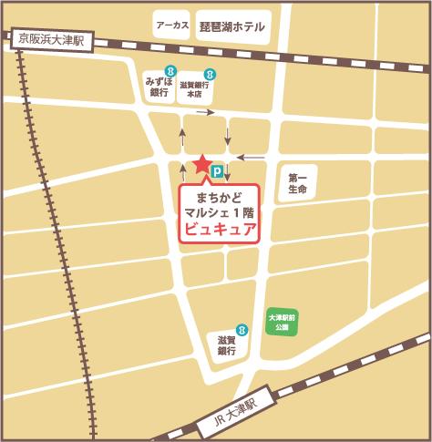 滋賀県大津市のネイルサロン・脱毛サロンビュキュアマップ